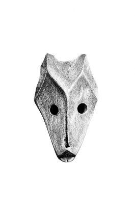 drawing pencil dessin olovka nigeria tribal mask