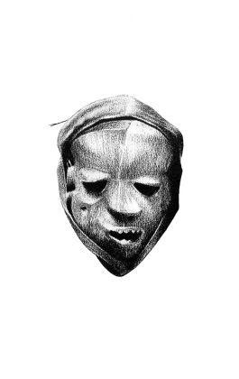 congo pencil drawing dessin tribal mask