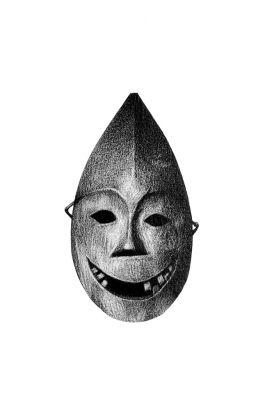 drawing pencil dessin alaska tribal mask