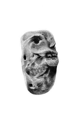 drawing pencil dessin himalaya tribal mask