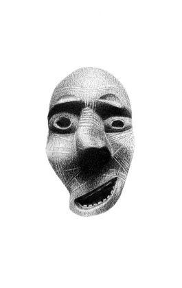 drawing pencil dessin greenland tribal mask