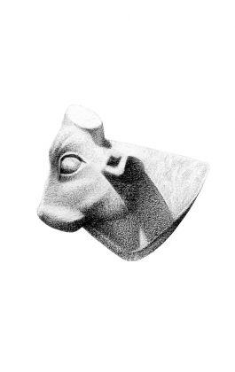 drawing pencil dessin calf egypt sculpture