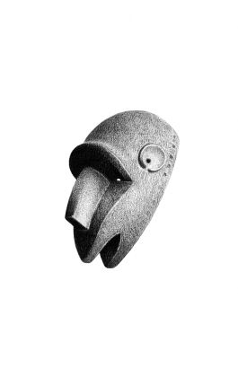 drawing pencil dessin olovka mali tribal mask