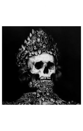 drawing pencil dessin holy man skull