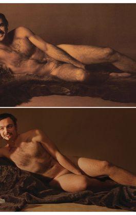 hommage burt reynolds bearskin cosmopolitan nude male