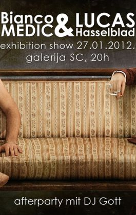 poster nude magnum exhibition beard cool sofa